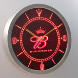 Budweiser Crown Beer Bar LED Wall Clock