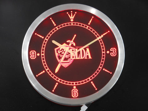 Legend of Zelda Video Game Room LED Wall Clock