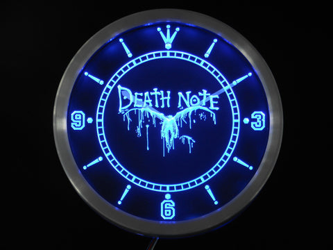 Death Note Notebook LED Wall Clock -  - TheLedHeroes