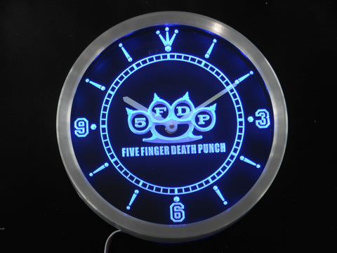 5FDP Five Finger Death Punch LED Wall Clock -  - TheLedHeroes