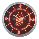 Coors Light Beer Bikini Bar LED Wall Clock