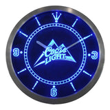 Coors Light Beer Bar Man Cave LED Clock