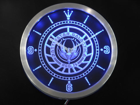 Battlestar Galactica LED Wall Clock -  - TheLedHeroes