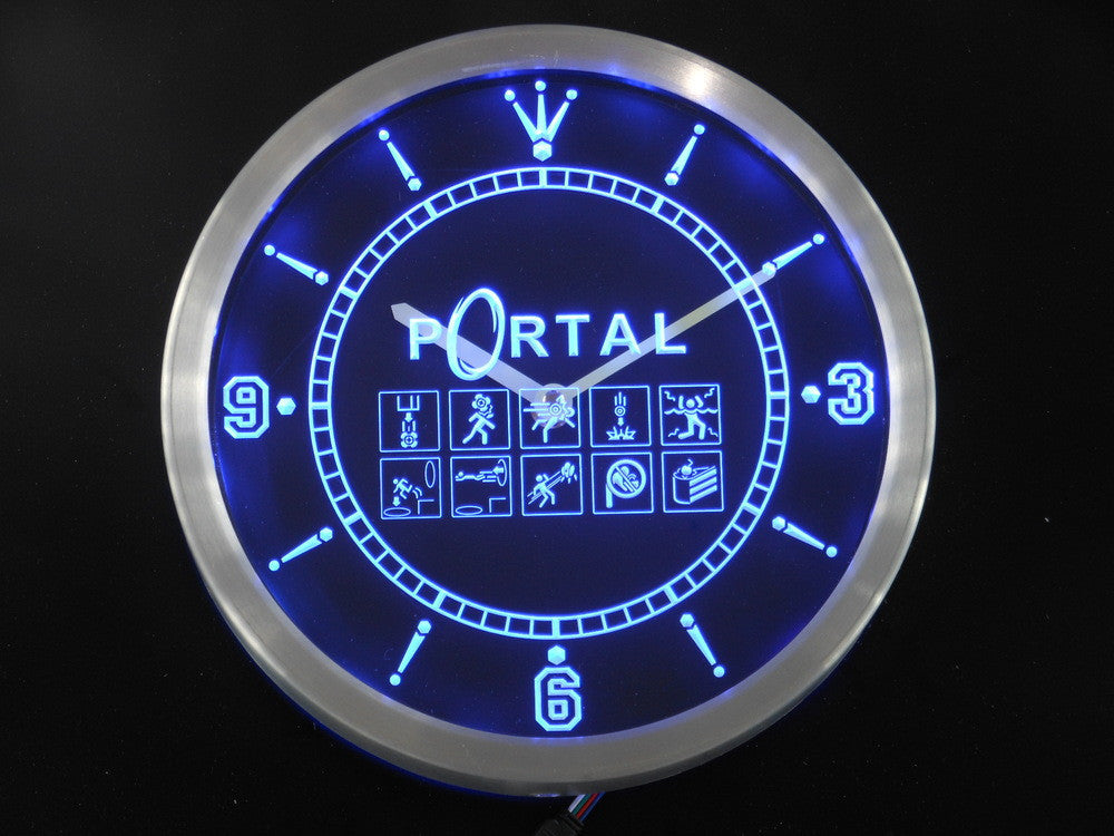 Portal Game LED Wall Clock -  - TheLedHeroes