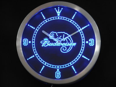 Budweiser lizard Beer Bar LED Wall Clock -  - TheLedHeroes
