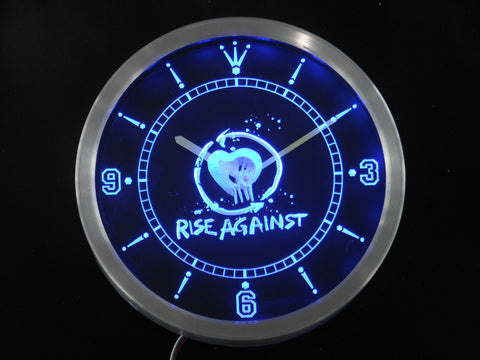 Rise Against LED Wall Clock -  - TheLedHeroes