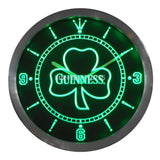Guinness Shamrock Beer Ale Bar LED Wall Clock