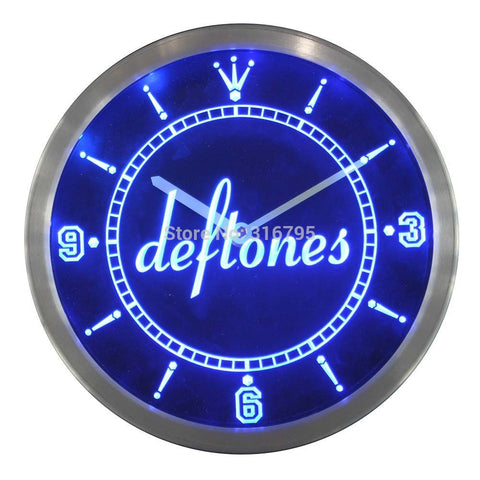 Deftones Punk Muisc Bar Beer LED Wall Clock -  - TheLedHeroes