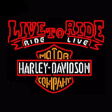 Harley Davidson Live To Ride Neon Bulbs Sign 30x24 -  - TheLedHeroes
