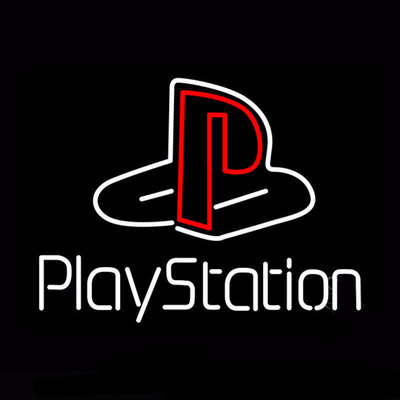 PlayStation Neon Bulbs Sign 17x14 -  - TheLedHeroes