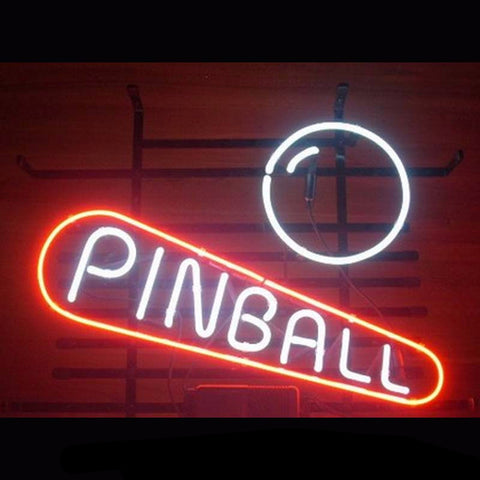 Pinball Game Room Neon Bulbs Sign 18X14