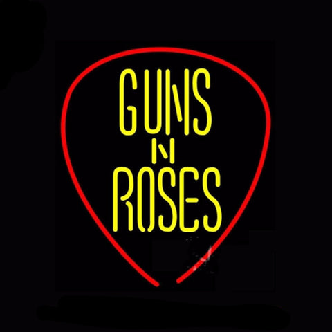 Guns N Roses Neon Bulbs Sign 25x22 -  - TheLedHeroes