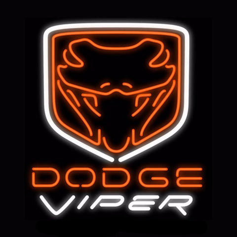 Dodge Viper Neon Bulbs Sign 24x24 -  - TheLedHeroes
