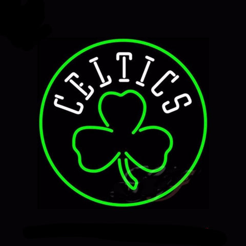 Boston Celtics Neon Bulbs Sign 17x17 -  - TheLedHeroes