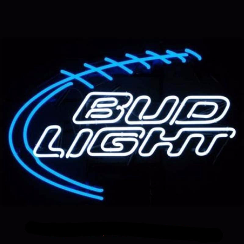 Bud Light Football Neon Bulbs Sign 28x20 -  - TheLedHeroes