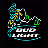 Bud Light Mountain Biker Neon Bulbs Sign 24x24