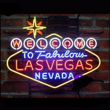 Welcome to Las Vegas Neon Bulbs Sign 24X20 -  - TheLedHeroes
