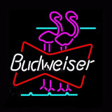 Budweiser Flamingo Neon Bulbs Sign 17x14