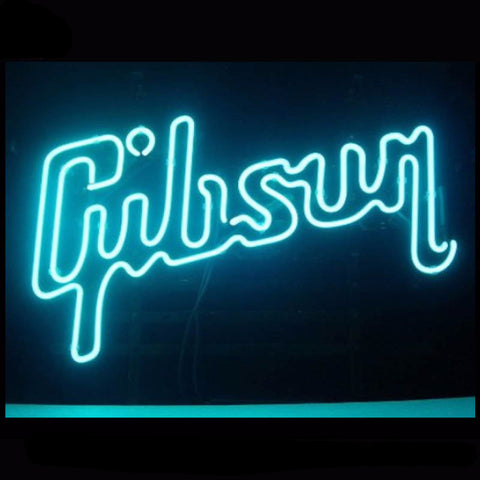Gibson Guitar Music Neon Bulbs Sign 17X14 -  - TheLedHeroes