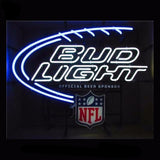 Bud Light NFL Neon Bulbs Sign 30x24 -  - TheLedHeroes