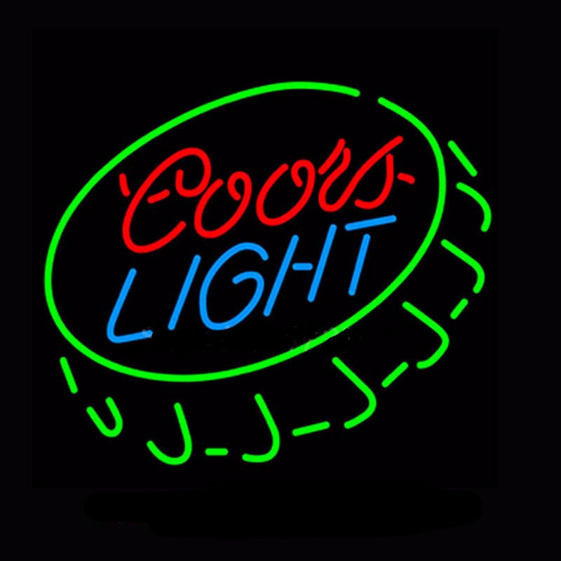 Coors Light Caps Neon Bulbs Sign 18x24 -  - TheLedHeroes