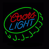 Coors Light Caps Neon Bulbs Sign 18x24