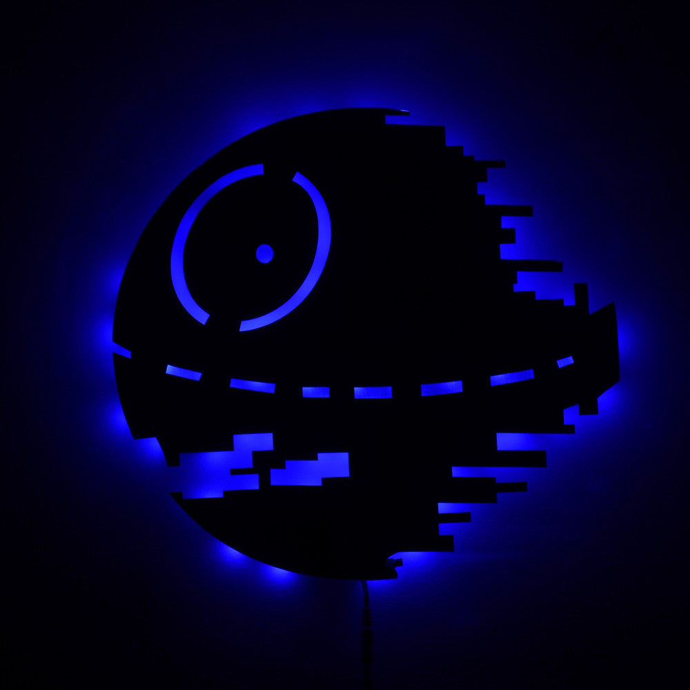 Star Wars Death Star LED Wall Lights 16 Colors Changing -  - TheLedHeroes