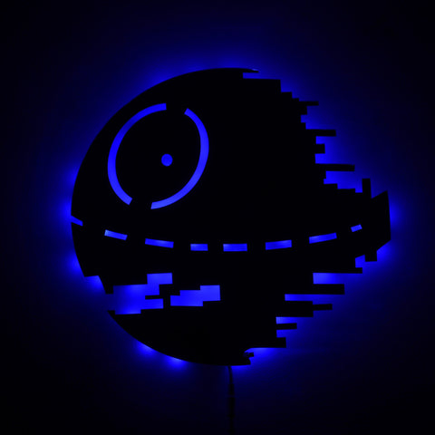 Star Wars Death Star LED Wall Lights 16 Colors Changing