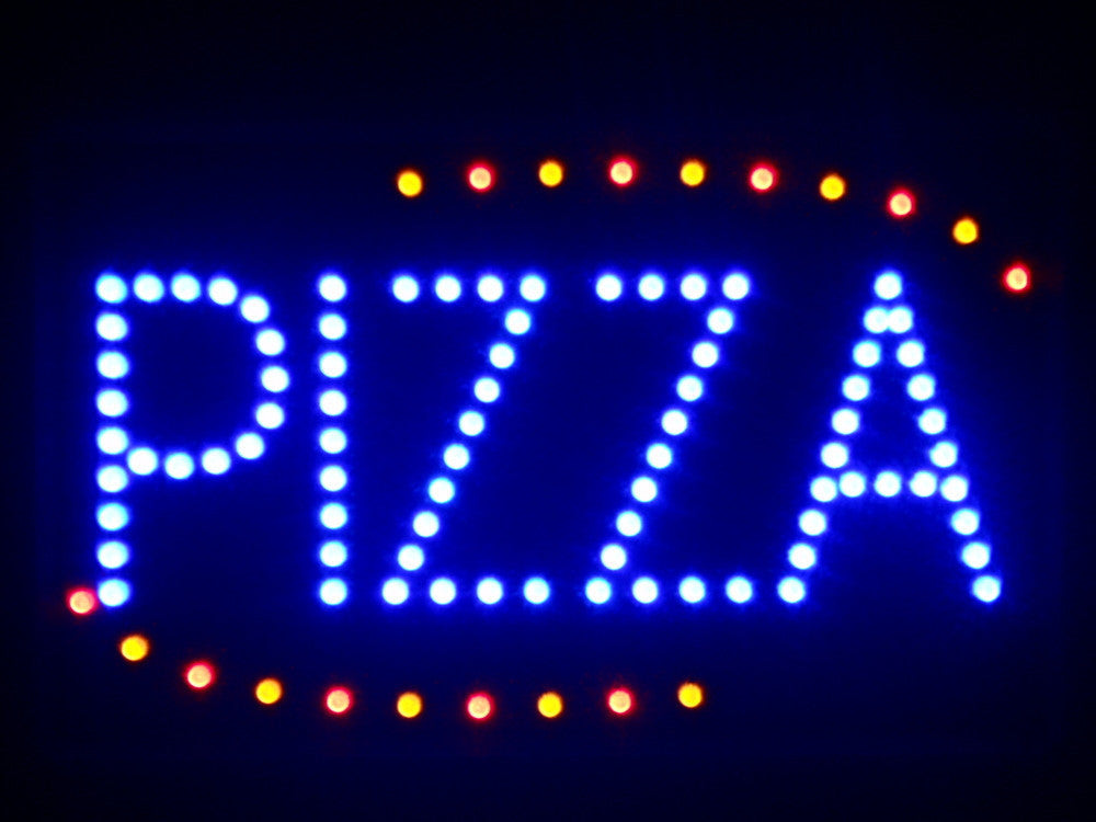 "Pizza Shop OPEN LED Business Sign 16"" x 10"" -  - TheLedHeroes"