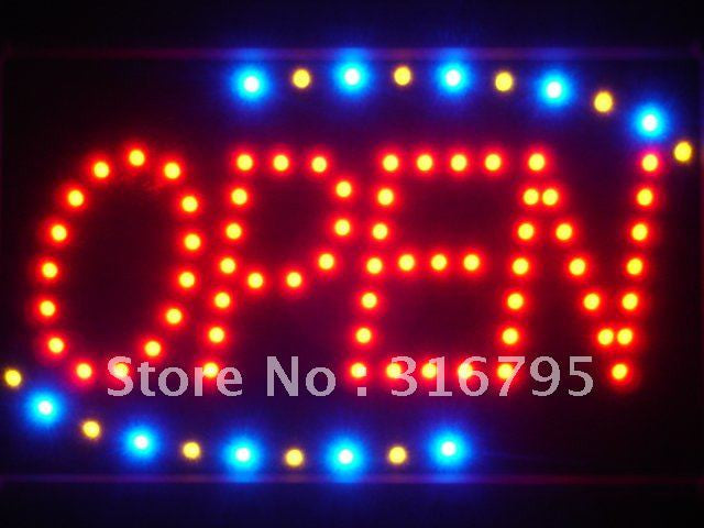 Red OPEN Classic LED Business Sign -  - TheLedHeroes