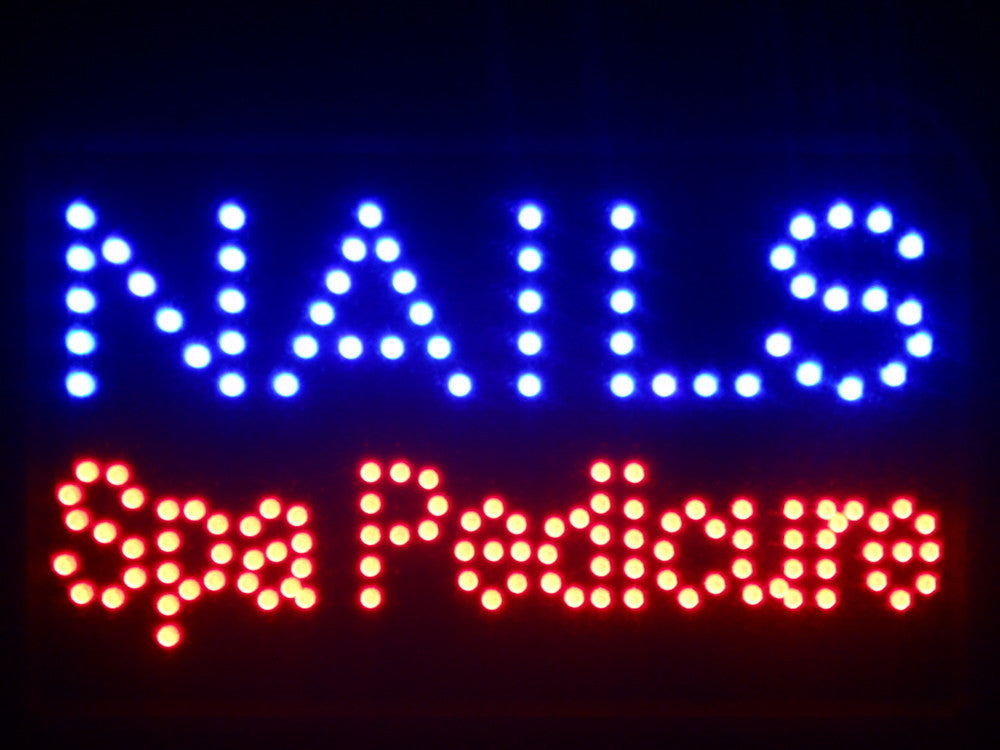 "Nails Spa Pedicure LED Sign 16"" x 10"" -  - TheLedHeroes"