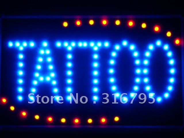 Tattoo Ship OPEN LED Business Sign -  - TheLedHeroes