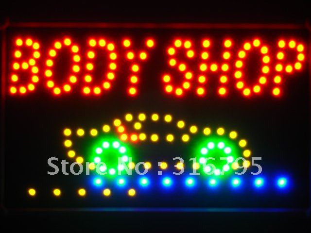 FREE Body Shop Car LED Sign -  - TheLedHeroes
