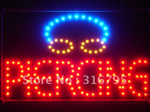 Piercing LED Sign with Whiteboard -  - TheLedHeroes