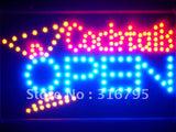Cocktails OPEN Bar Led Sign WhiteBoard -  - TheLedHeroes