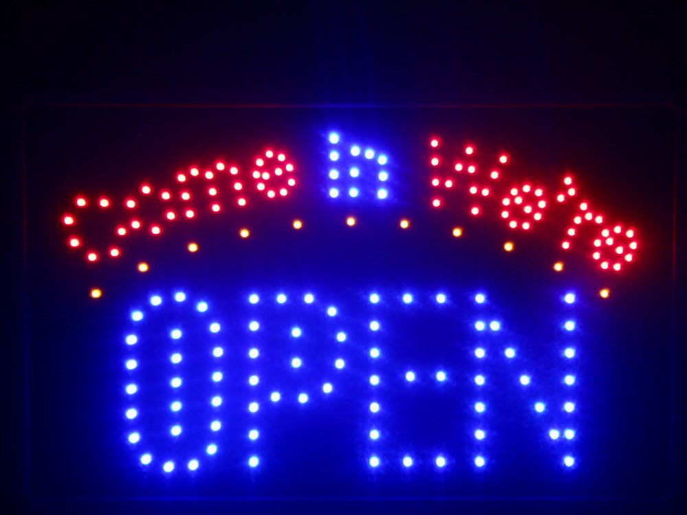 "Come in we're OPEN LED Sign 16"" x 10"" -  - TheLedHeroes"