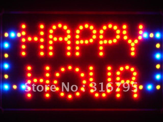 Happy Hour Bar Beer LED Sign -  - TheLedHeroes