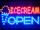 Icecream OPEN Cafe Led Sign WhiteBoard -  - TheLedHeroes