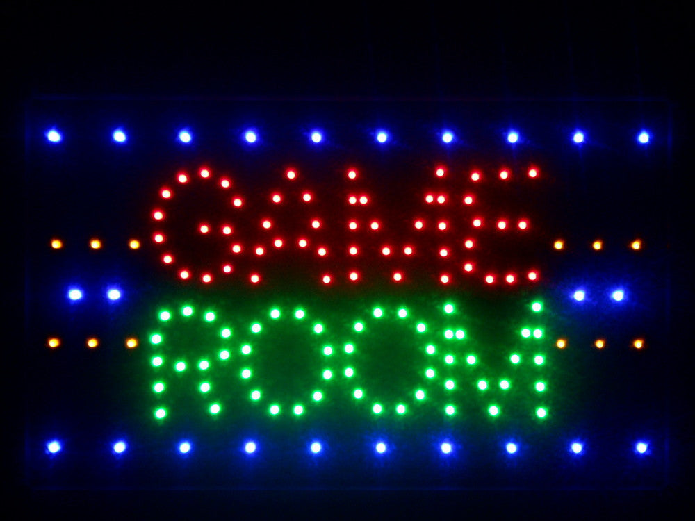 Game room led sign 16 x 10 vintagily for Room decor neon signs