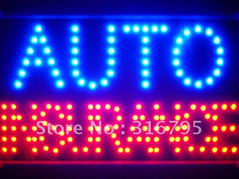Auto Car Insurance Led Sign WhiteBoard