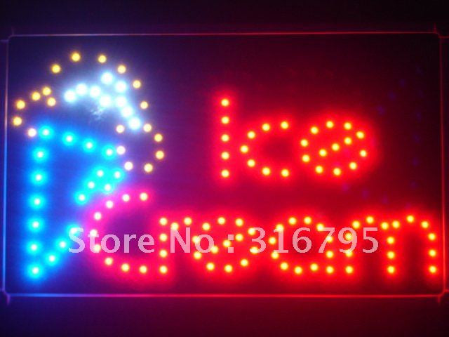 Ice Cream Cafe LED Business Sign -  - TheLedHeroes