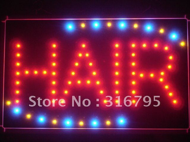 Hair Cut Salon OPEN LED Sign -  - TheLedHeroes