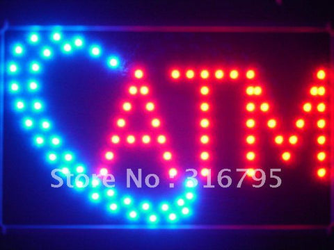 ATM LED Sign with Whiteboard