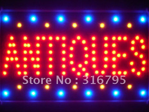 Antiques Shop Led Sign WhiteBoard