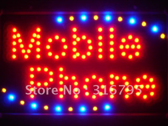 Mobile Phone LED Sign Whiteboard -  - TheLedHeroes