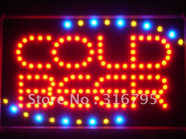 COLD BEER Bar OPEN LED Sign -  - TheLedHeroes