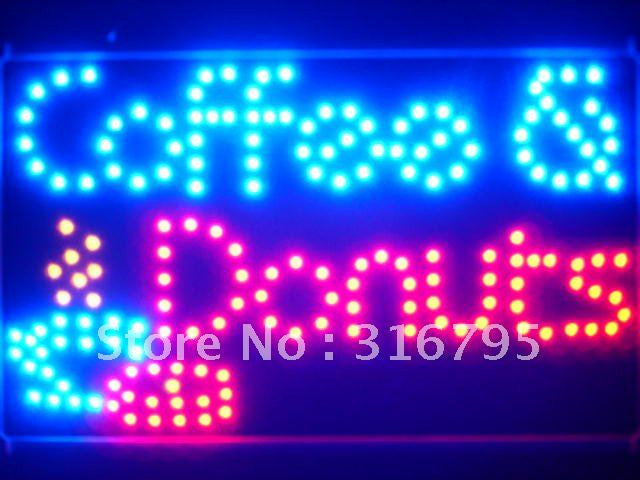 Coffee Donuts Cafe Led Sign WhiteBoard -  - TheLedHeroes