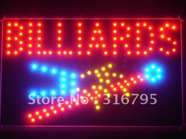 Billiards Pool LED Business Sign -  - TheLedHeroes
