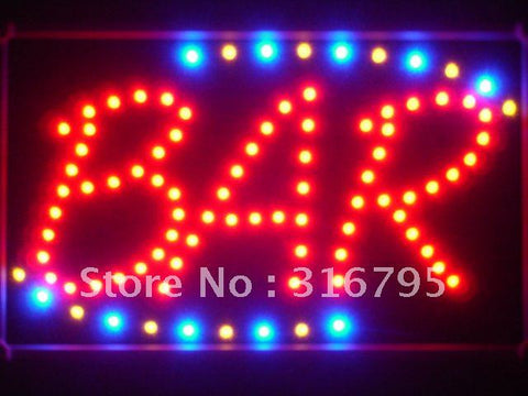 BAR Beer LED Sign with Whiteboard