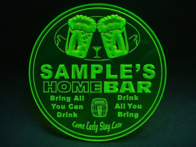 Personalized Name Custom Home Bar Beer 3D Coasters X10 Pcs -  - TheLedHeroes